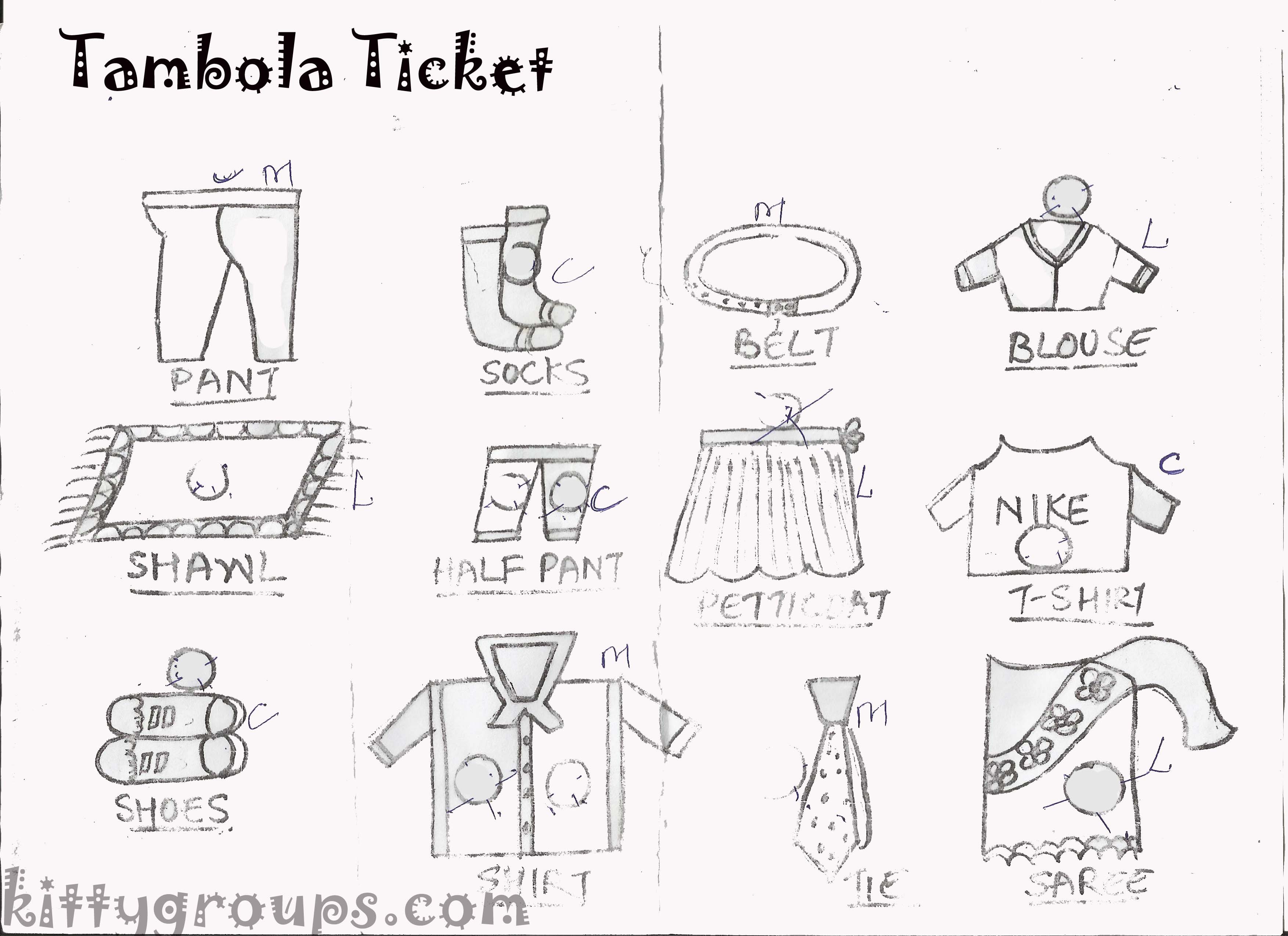 paper party games tambola tickets