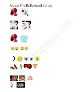 Bollywood Written Game For Ladies Kitty Party