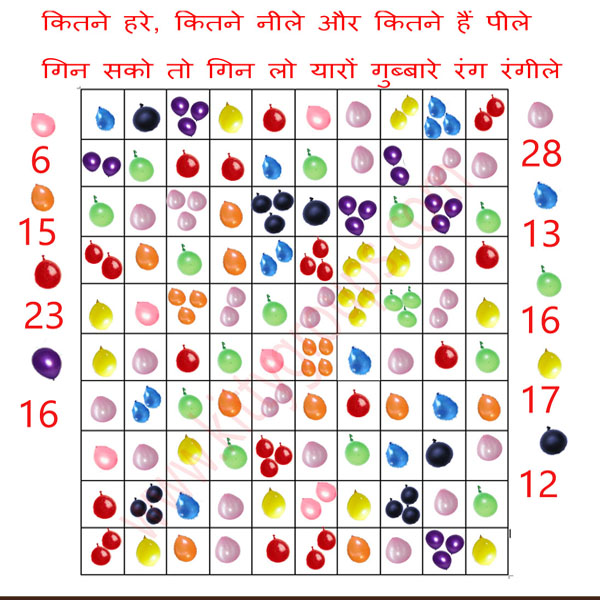 holi one minute kitty party game aanswers