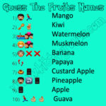 WhatsApp Puzzle Guess The Fruits Names