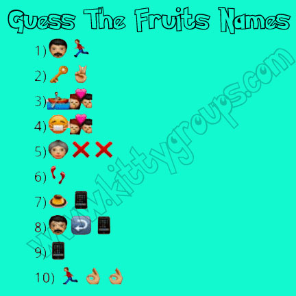 whatsapp puzzle guess the fruits names Puzzle Games Kitty Party
