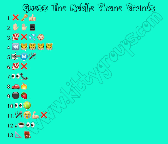 whatsapp puzzle guess the phone brands