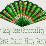 Punctuality Game For Karva Chauth Kitty PartyChauh