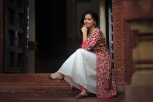 OOTD : Cotton Anarkali Suit From Mantra Kreations
