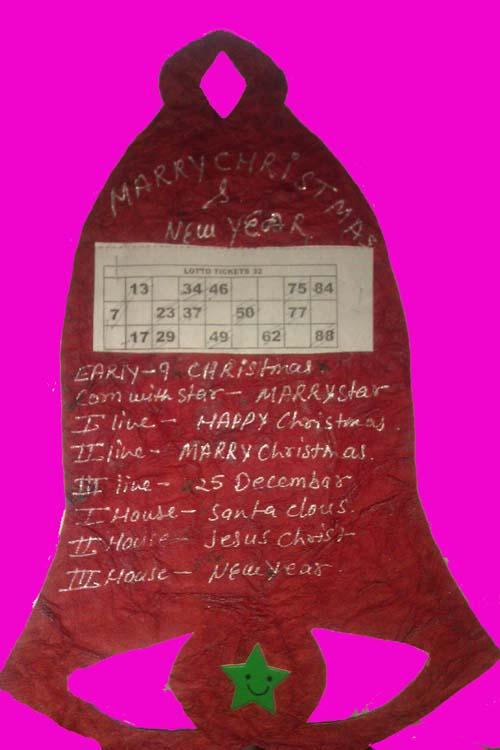 christmas tambola ticket