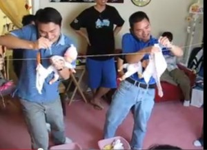 baby shower games for men men at laundry