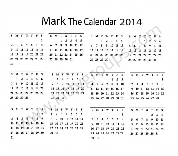 Interesting Paper Game for Kitty Party: Mark The Calendar