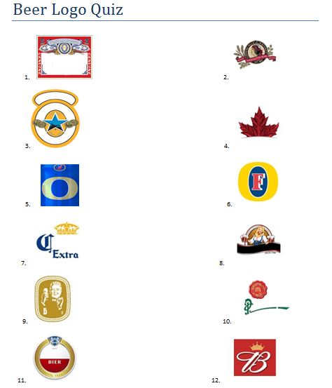 Beer brands logos quiz