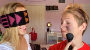 Fun Bridal Shower Games : Blindfold Makeup
