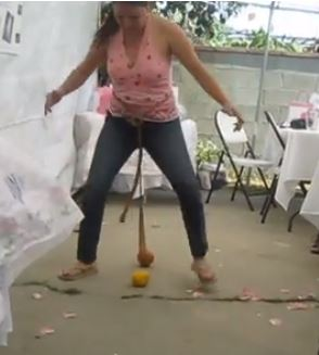 naughty bridal shower games hit the orange harder