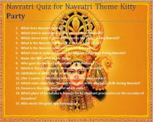 navratri quiz for navratri theme kitty party