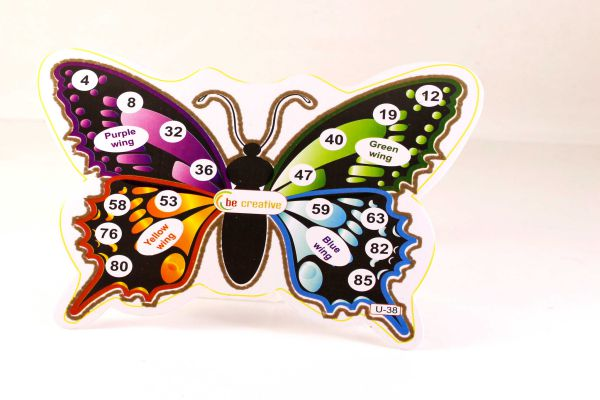 Tambola Games : Housie Tickets On Beautiful Butterfly