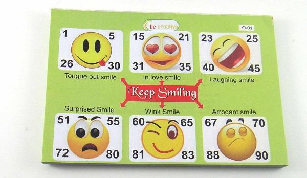 Tambola Games : Smiley Tambola Tickets