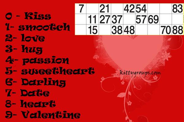 Tambola Games : Valentine Theme Tambola Games
