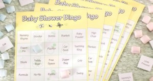 Baby Shower Bingo Game : Baby themed Bingo game