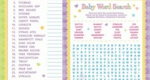 Baby Shower Word Games : Funny Games For Baby Shower