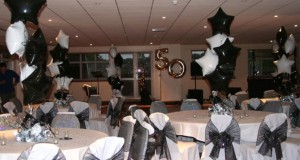 black and white theme party idea