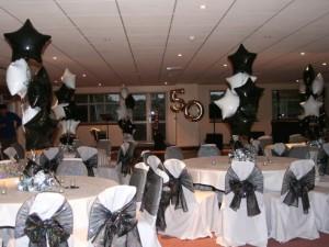 black and white theme party idea