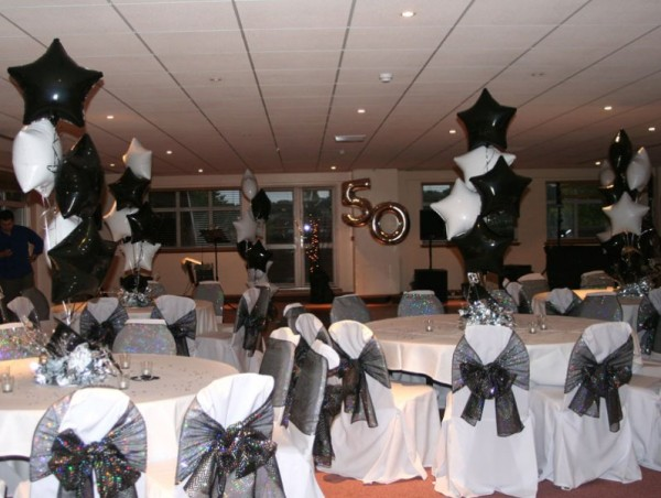 Black and white theme decorations for party images for All white party decoration ideas