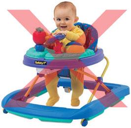Dangers of baby walkers