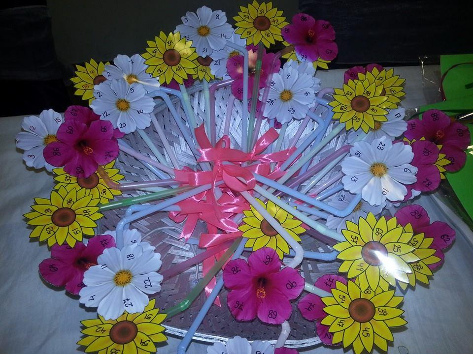 floral theme tambola