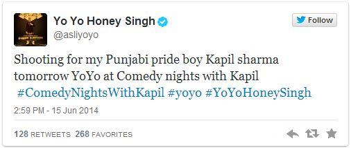 yoyo honey singh in comedy nights with kapil