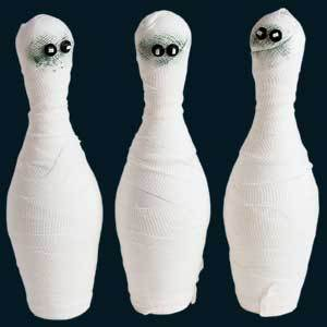 Mummy Bowling Halloween Party Game Adults