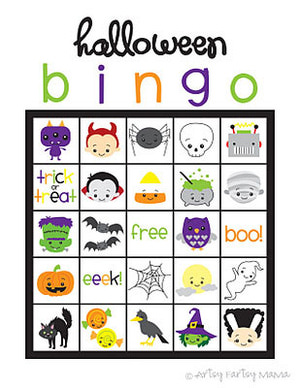 free printable Halloween Party Bingo