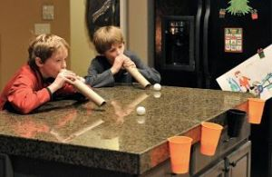 Christmas Party Game For Kids: Ball Race