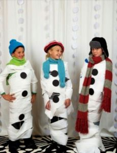 Kids Christmas Game: Snowman Race