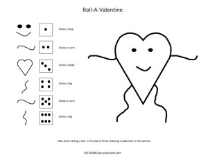 Roll A Valentine: Valentines Day Ladies Party Game
