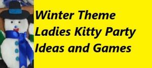 winter theme ladies kitty party