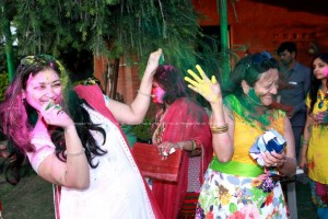 Club Holi Party With Friends