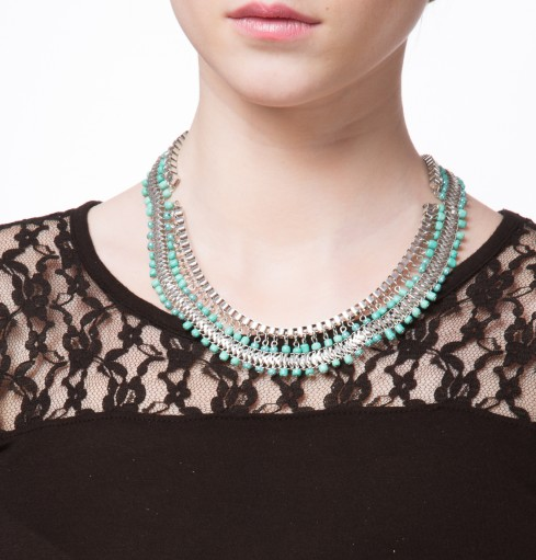 mint colored necklace