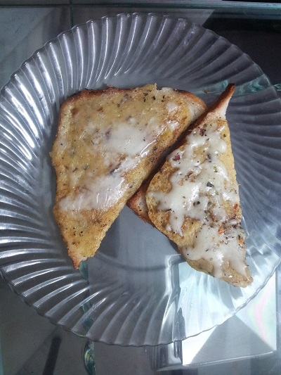 bread besan toast tasty evening snack item