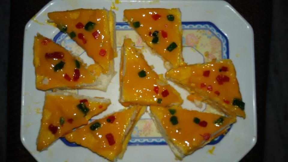 bread mango pastry