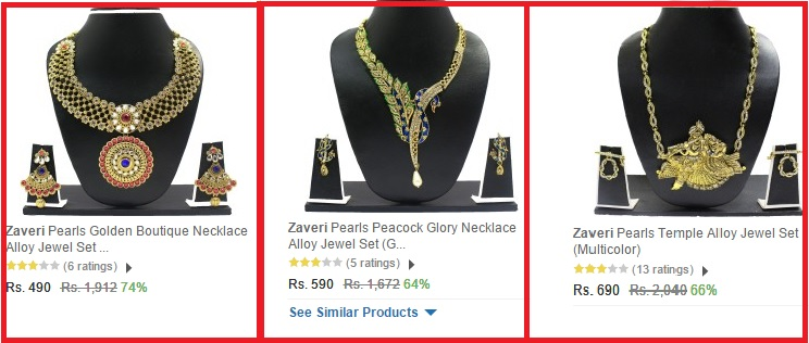 jewellery on sale flipkart
