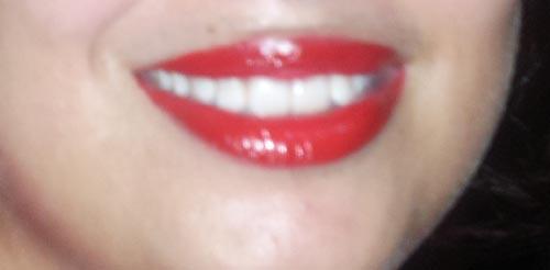 maybelline lipstick after applying lipbalm