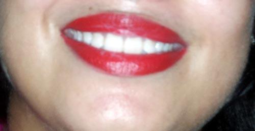 maybelline lipstick after having tea
