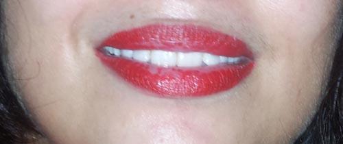 maybelline lipstick next morning