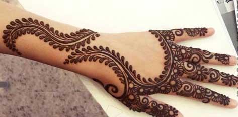 Arabic mehandi designs 2015