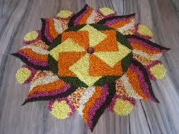 diwali flower rangoli design 6
