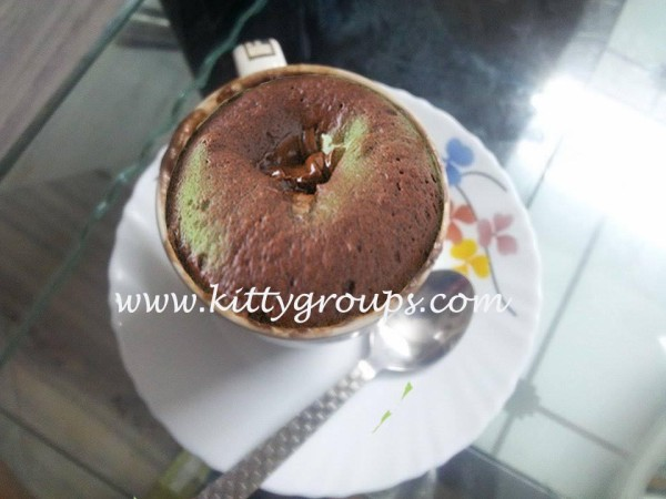 1 Minute Mug Chocolate Cake With Homemade Chocolate Syrup