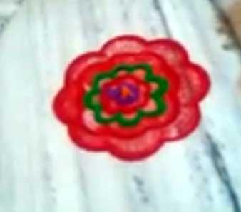 Simple rangoli design for beginners