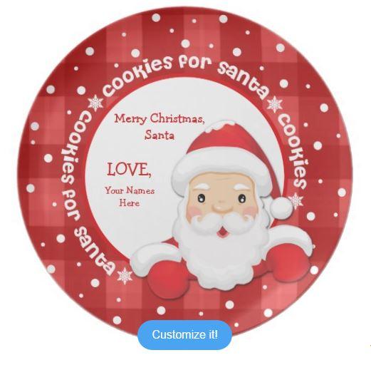 custom name christmas plates