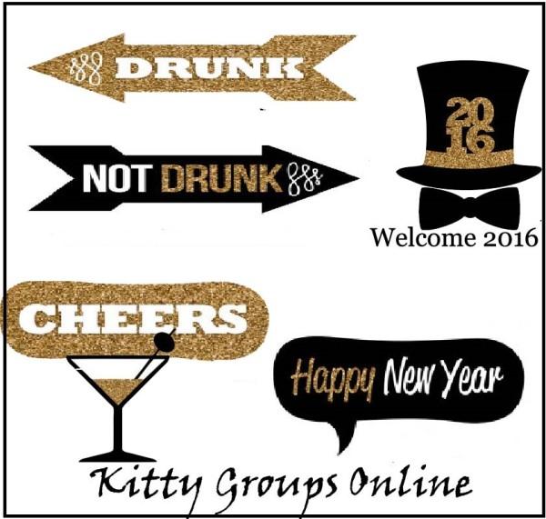 Happy New Year Tambola Ticket Kitty Party