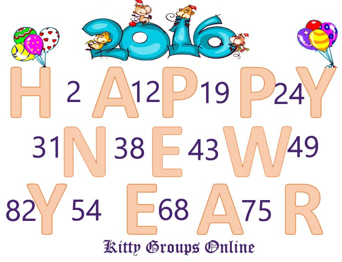 Happy New Year Tambola Tickets