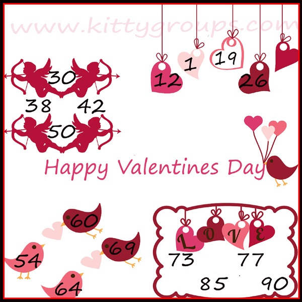 Valentines Day Kitty Party Tambola Game