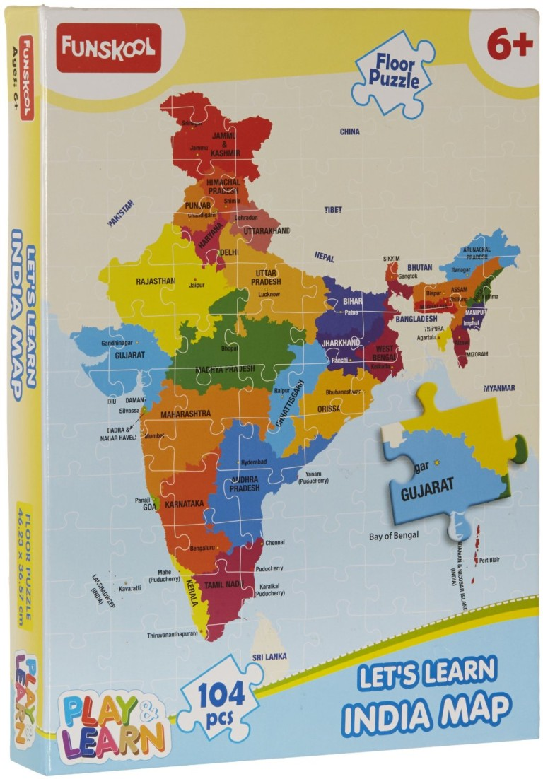 India Map Jigsaw- Republic Day Game