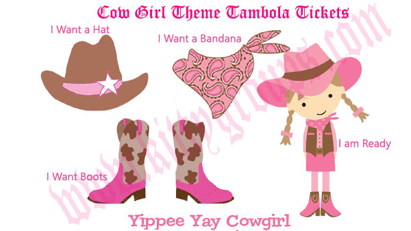 cow girl theme kitty party tambola game